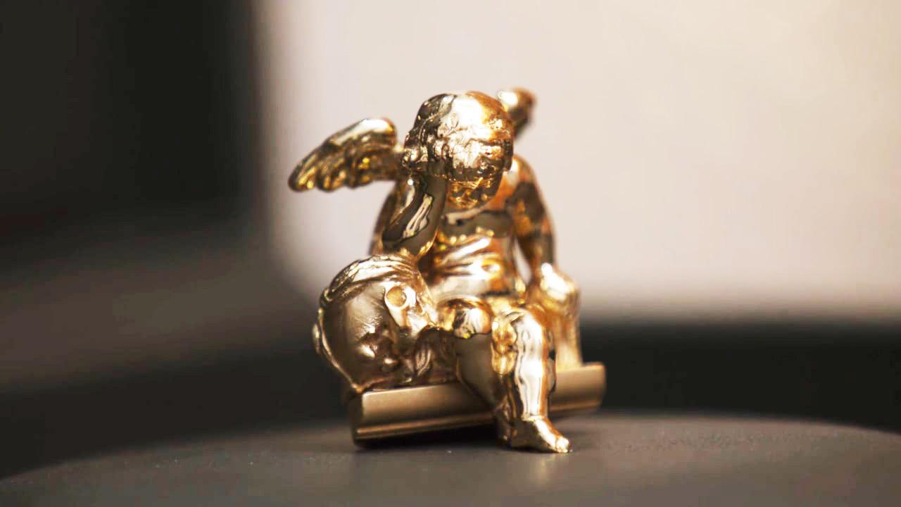 Sculpture Ange Pleureur Metaux precieux