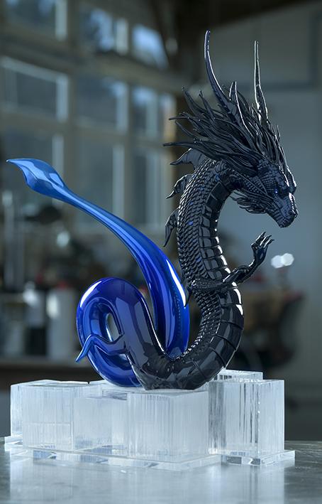 Sculpture Dragon des glaces